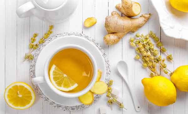 Ingwer-Tee mit Zitrone