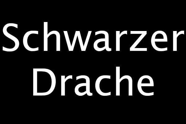 schwarzer Drachentee